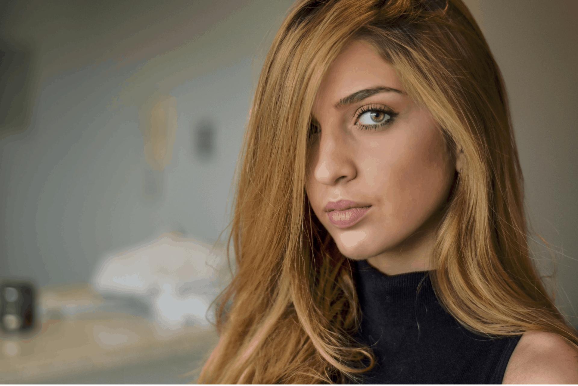 blonde for olive skin