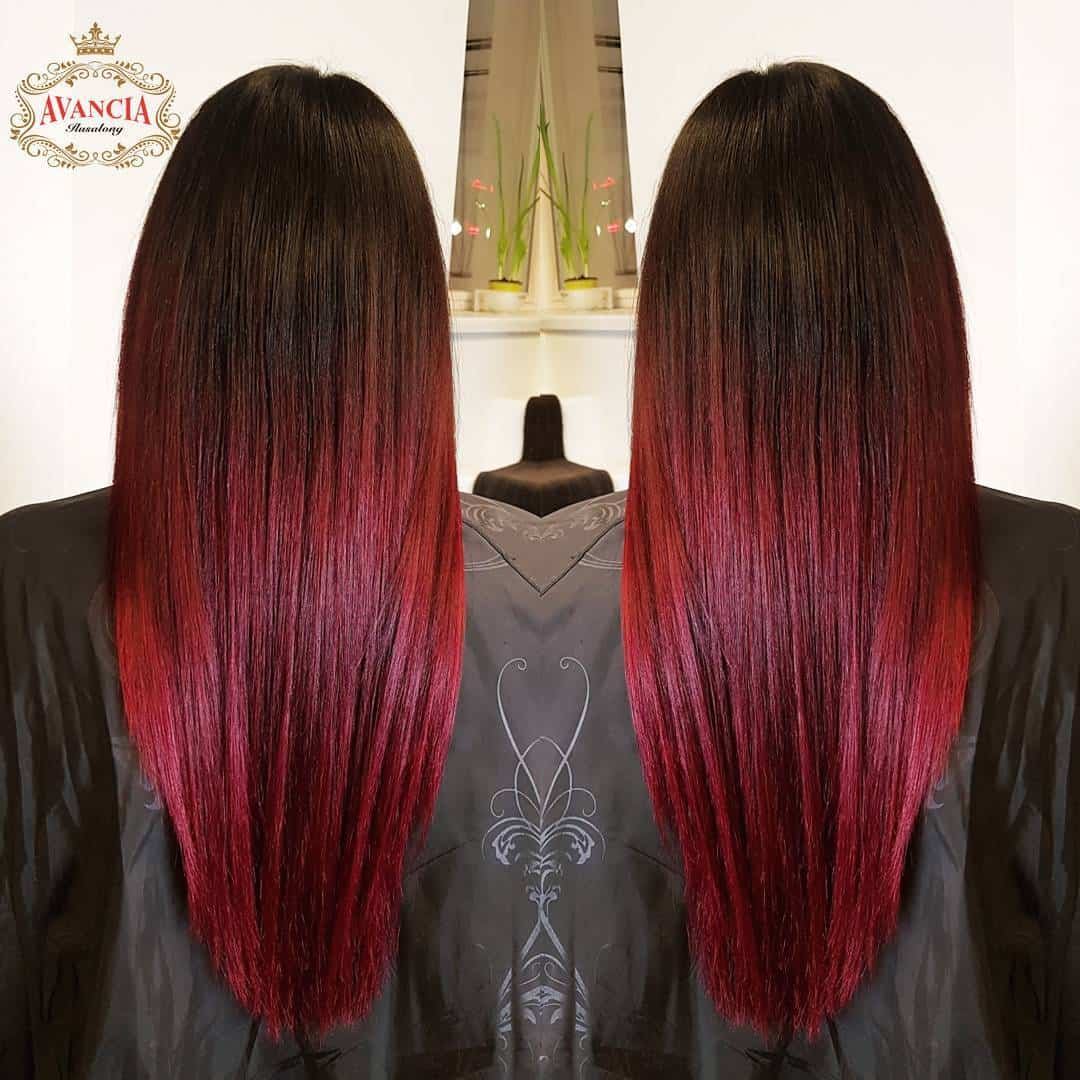 Dark Brown To Red Ombre All About The Gloss