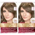 L'Oréal Paris Excellence Créme Permanent Hair Color, 6A Light Ash Brown, 2 COUNT 100% Gray Coverage Hair Dye