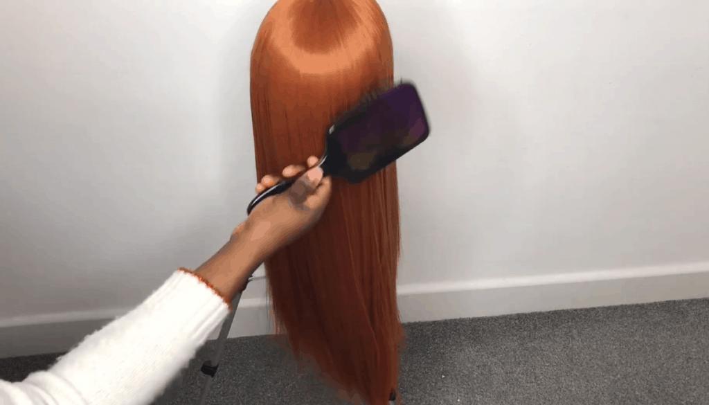 brush the wig