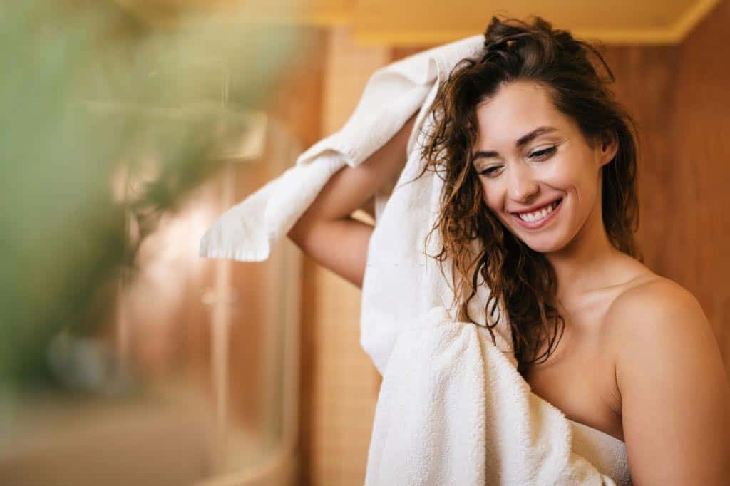 Towel Dry the Hair