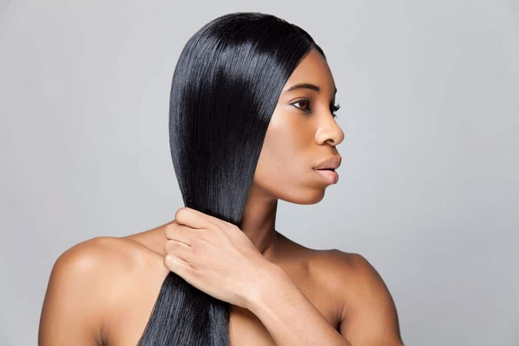 how to straighten natural black hair without chemicals or heat