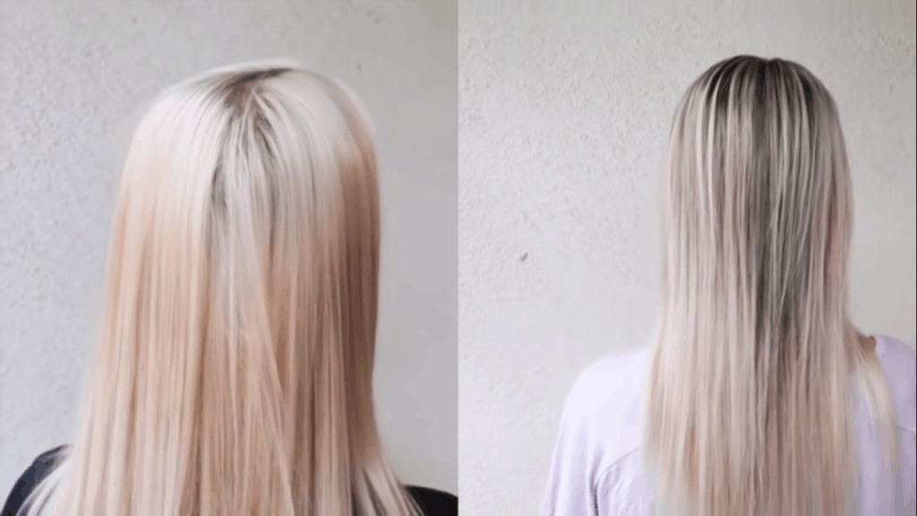 before and after lowlights