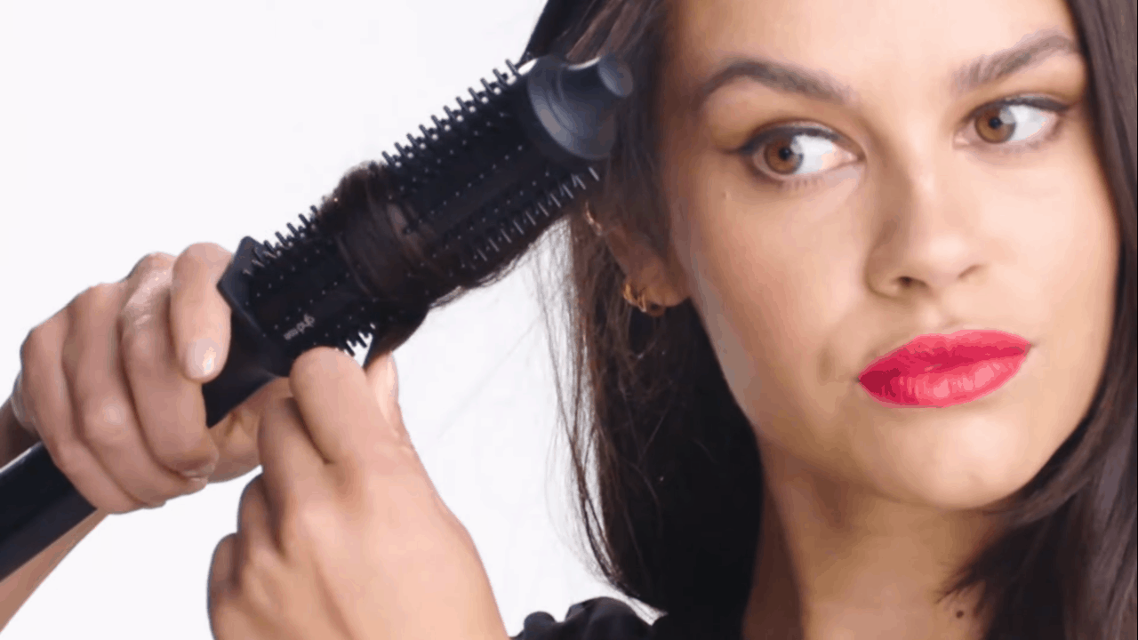 how to use a curling brush