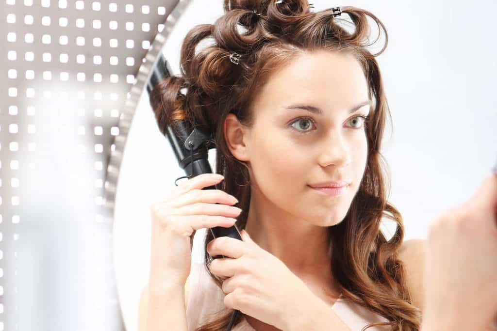 how to measure curling iron